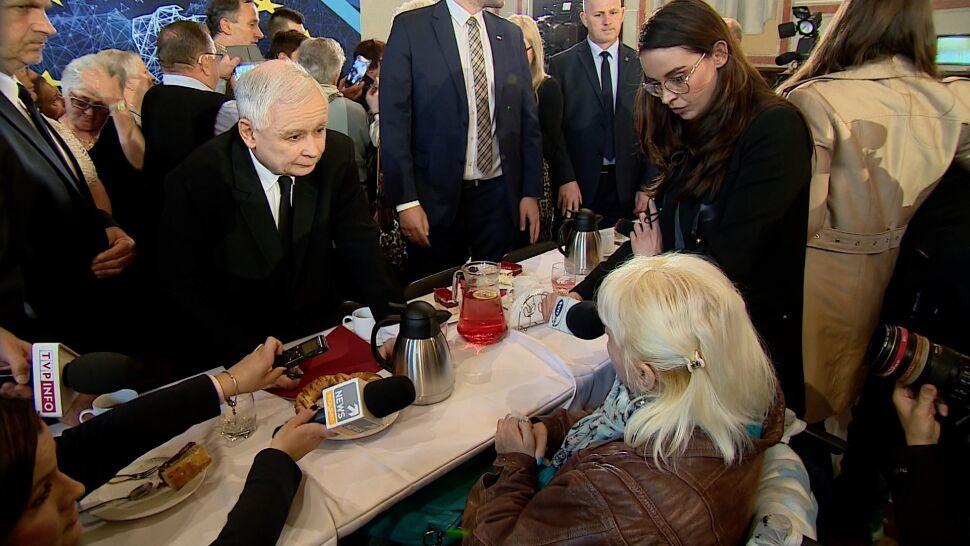 Kaczyński na spotkaniu z wyborcami pytany o wsparcie dla niepełnosprawnych