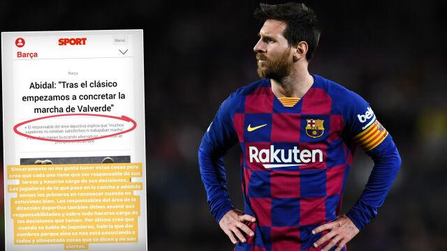 Afera w Barcelonie. Messi odpowiedział dyrektorowi