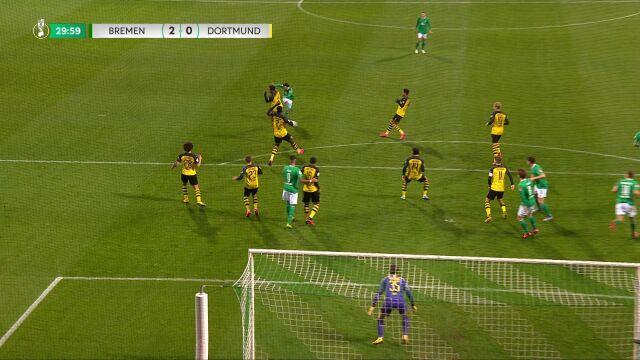 Piękny gol Bittencourta w meczu Werder - BVB w 3. rundzie Pucharu Niemiec
