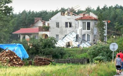 105 uszkodzonych budynków