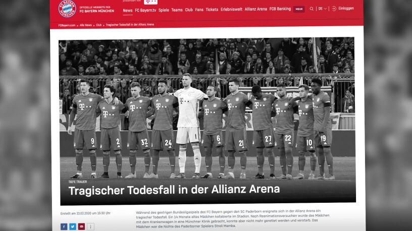 Tragedia podczas meczu Bayernu. Zmarła 14-miesięczna siostrzenica piłkarza
