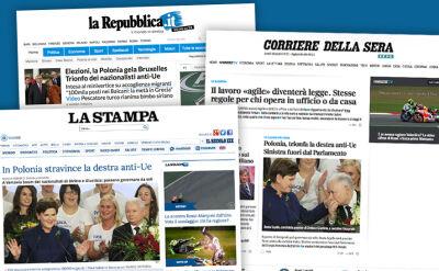 Włoska prasa straszy efektami zwycięstwa PiS