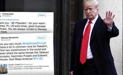 Prezydent i premier dziękują Trumpowi za życzenia