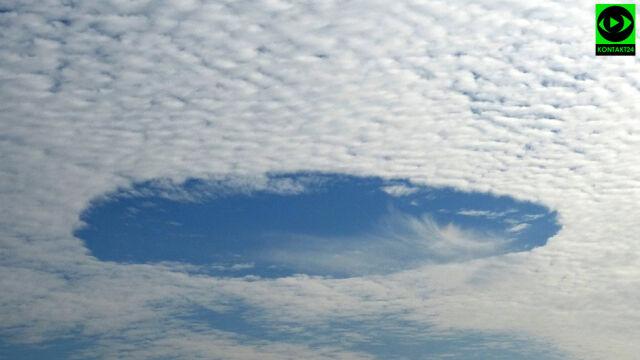 Dziura w niebie. Rzadkie zjawisko nad Tychami