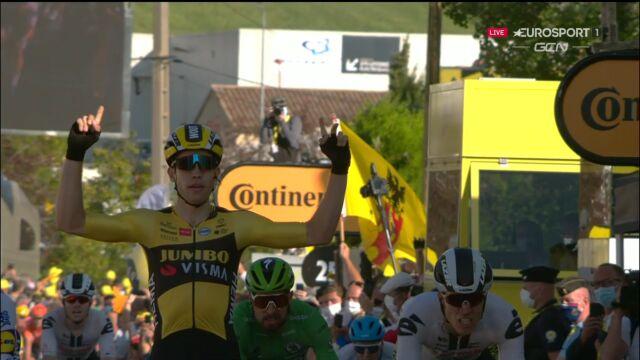 Van Aert wygrał 5. etap Tour de France