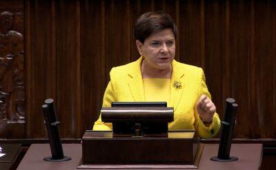 Beata Szydło: ten wniosek jest stekiem kłamstw