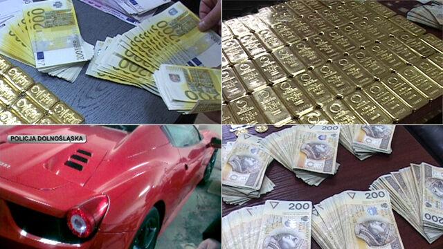 CBŚ przejęło 100 kilogramów złota.  3 osoby podejrzane o wyłudzanie VAT