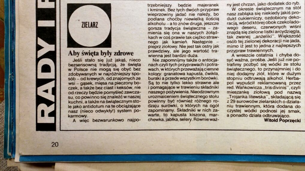 """""""Kobieta i Życie"""", 15 grudnia 1982 roku"""