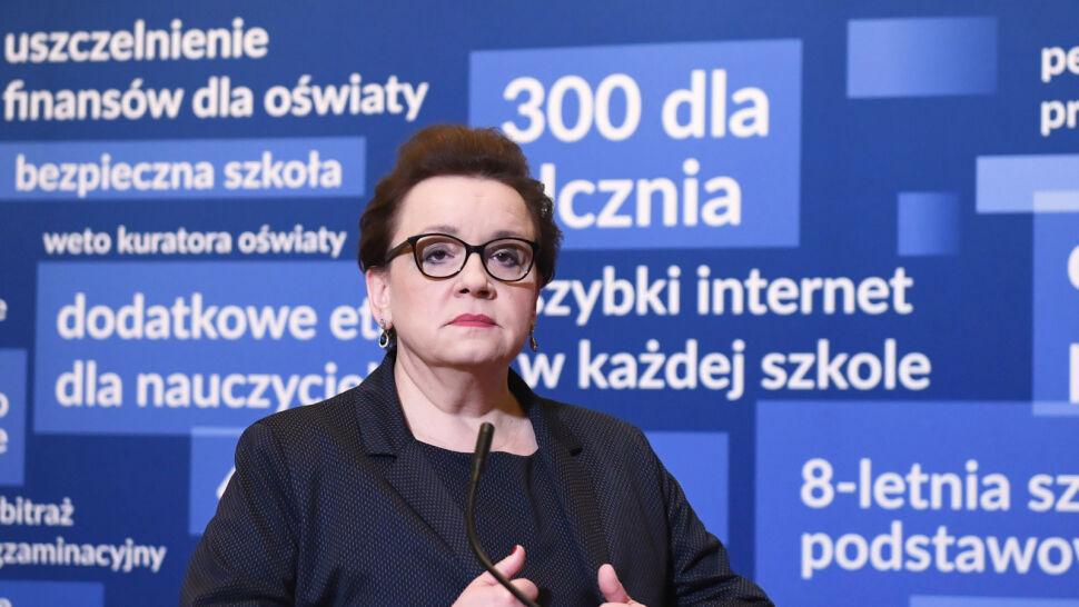 """""""Zwracam się do wszystkich nauczycieli  z prośbą"""". Apel minister Zalewskiej"""