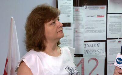 Protestująca nauczycielka: minister Anna Zalewska prowadzi monolog