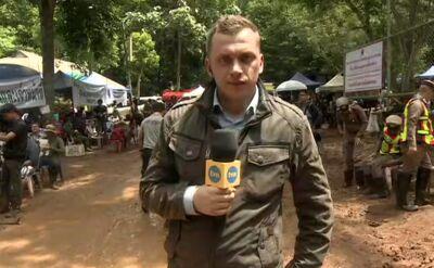 """To nie trener zaprowadził chłopców do jaskini? Relacja korespondenta """"Faktów"""" TVN"""