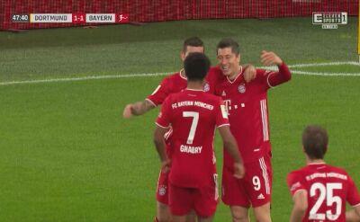 Gol Lewandowskiego w meczu z Borussią Dortmund