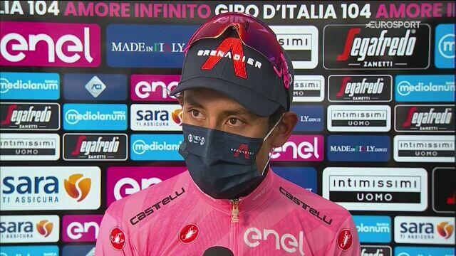Egan Bernal po 16. etapie Giro d'Italia