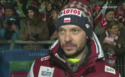 Michal Doleżal po zwycięstwie w Klingenthal