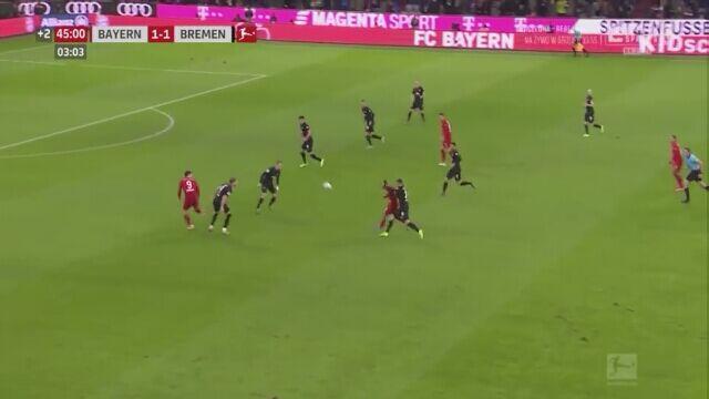 Dwa gole Lewandowskiego w meczu przeciwko Werderowi