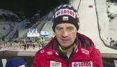 Stefan Horngacher po konkursie w Vikersund