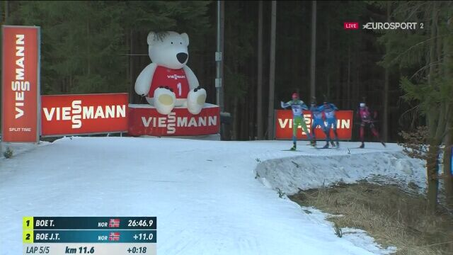 Tarjei Boe wygrał bieg pościgowy na 12 km w Novym Mescie