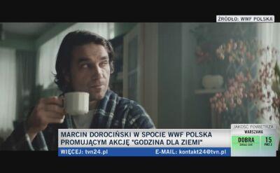 Marcin Dorociński w spocie WWF