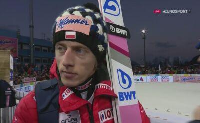 Dawid Kubacki po kwalifikacjach na skoczni normalnej
