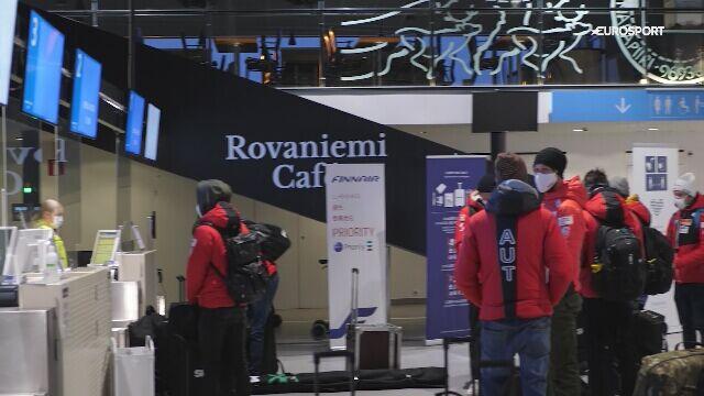 Skoczkowie z sześciu krajów wraz z ekipą Eurosportu polecieli z Finlandii do Rosji