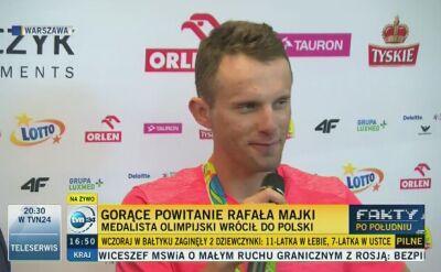 """Majka przywitany w Polsce. """"Należy mi się ten medal"""""""