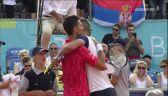 Spacerek Djokovicia w meczu z Troickim w Adria Tour
