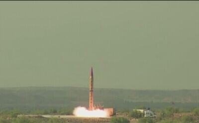 Test rakietowy w Pakistanie (wideo z maja 2019 roku)
