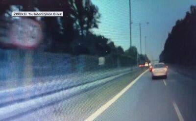 Wideo z jazdy ciężarówki pod prąd na DK1