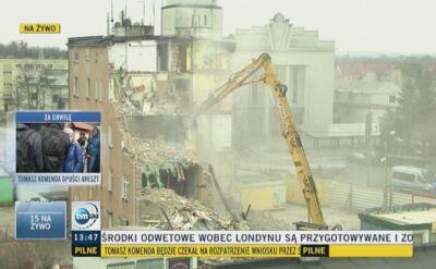 Wyburzanie części poznańskiej kamienicy