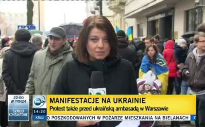 Warszawa solidarna z Kijowem. Też protestuje