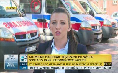Katowice: mężczyzna pod wpływem dopalaczy zaatakował ratowników medycznych