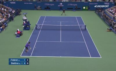 Ćwierćfinał US Open Federer - Dimitrow: skrót