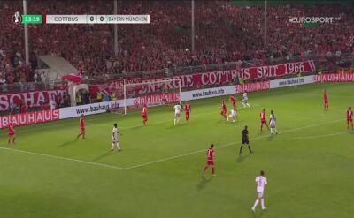 Skrót meczu Energie – Bayern. Bohaterem Lewandowski