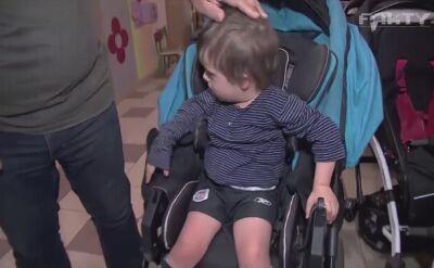 Ktoś ukradł wózek siedmioletniego Dawida