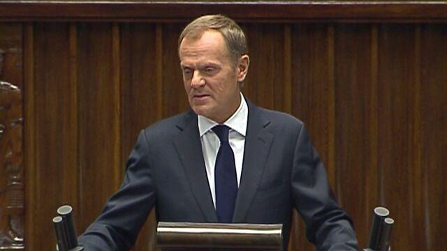 Tusk: nie zwiększymy pułapu wydatków na obronę