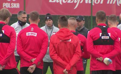 Środowy trening reprezentacji Polski w Warszawie