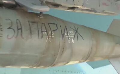 """""""Za Paryż"""" i """"Za naszych"""". Rosjanie podpisują bomby"""