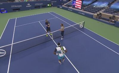 Skrót meczu Frances Tiafoe - Danił Miedwiediew w 4. rundzie US Open