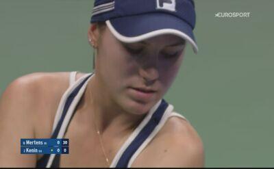 Skrót meczu Elise Mertens z Sofią Kenin w 4. rundzie turnieju US Open