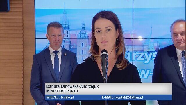 Minister sportu Danuta Dmowska-Andrzejuk o Igrzyskach Europejskich w Krakowie