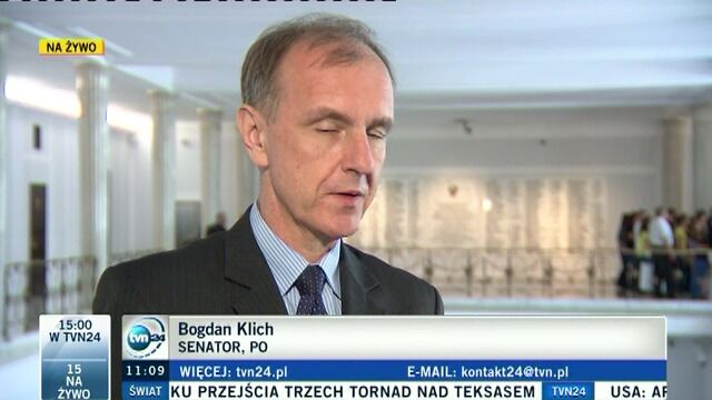 Klich: Senat naprawi błąd Sejmu