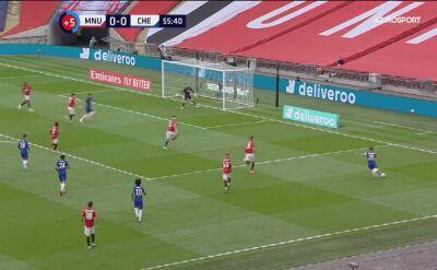 Skrót meczu Manchester United - Chelsea w półfinale Pucharu Anglii