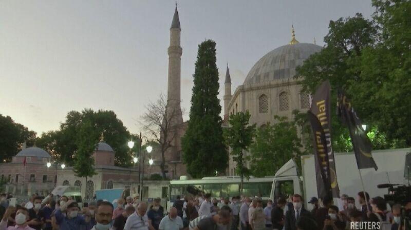 Hagia Sophia została przekształcona z muzeum w meczet