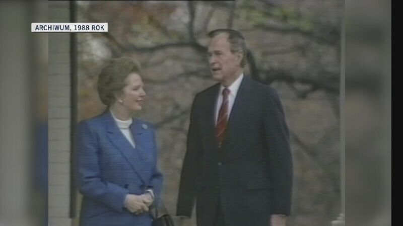 Brytyjska premier Margaret Thatcher w 1988 roku spotkała się także z prezydentem USA George'em Bushem. Rok później odwiedziła Niemcy, gdzie rozmawiała z kanclerzem Helmutem Kohlem