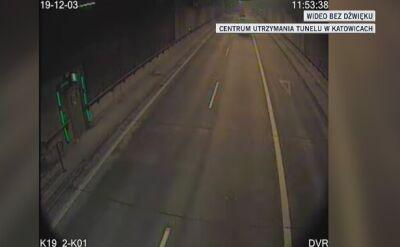 Kierowca zgubił ładunek. Drogowcy zamknęli tunel w Katowicach