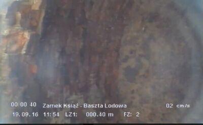 Zapis z kamerki wpuszczonej do wnętrza studni. Przyspieszony 8 razy