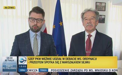 Przewodniczący PKW o spotkaniu z marszałkiem Sejmu