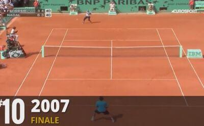 TOP 10 wymian Federer - Nadal z Rolanda Garrosa