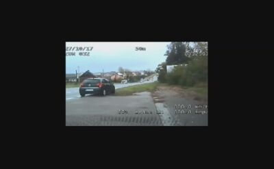 Policjanci eskortowali rodząca kobietę