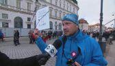 Uczestnik marszu Niepodległości